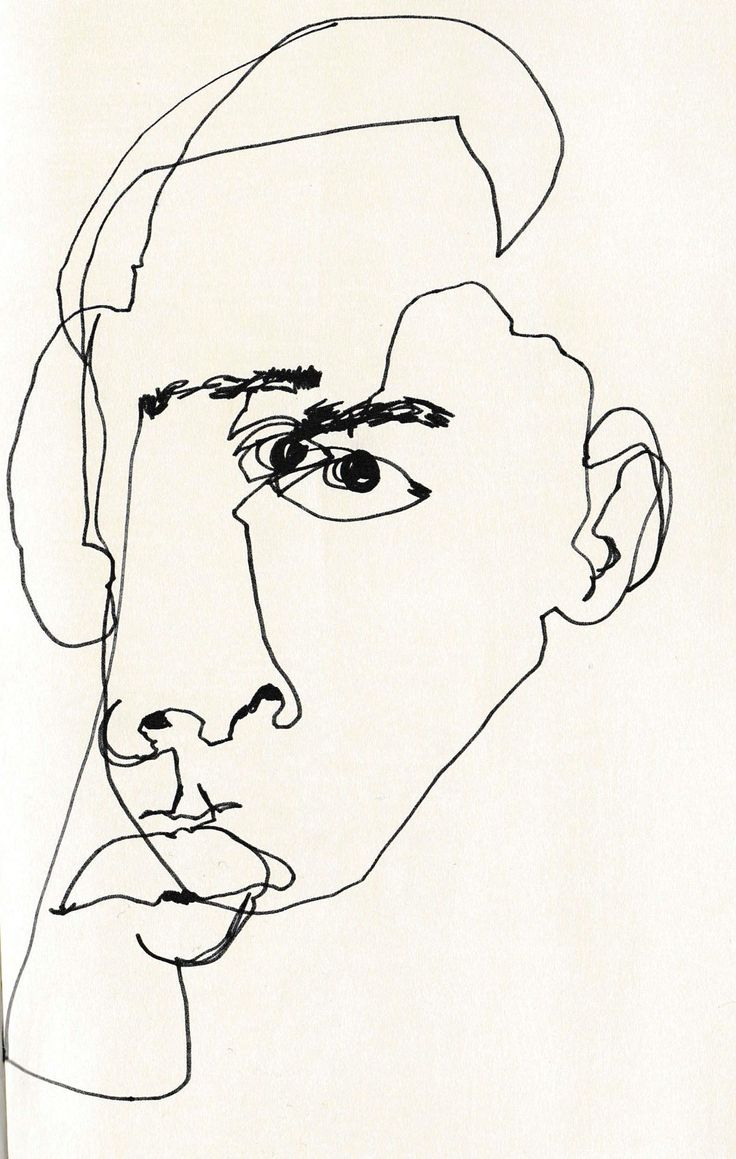 Contour Line Drawing Of A Face : February james blind contour line drawing personal