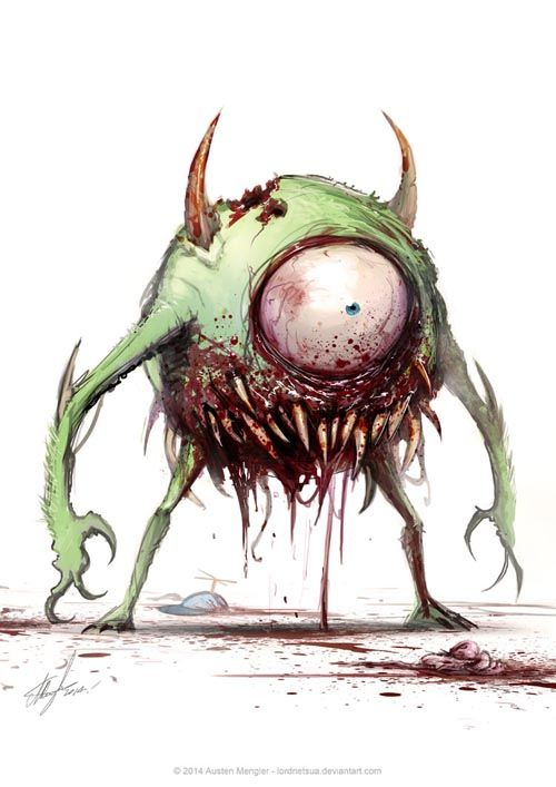 Zombie Mike Wazowski. This version of Mike would've taken the prize for most scares.