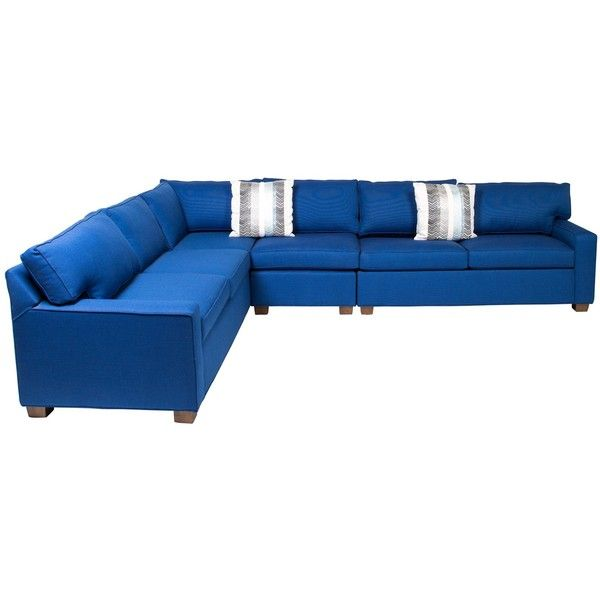 Pre-owned Mitchell Gold + Bob Williams Large Sectional Sofa ($2,995) ❤ liked on Polyvore featuring home, furniture, sofas, blue, second hand sofas, oversized sectionals, oversized sofa, mitchell gold bob williams sofa and secondhand furniture