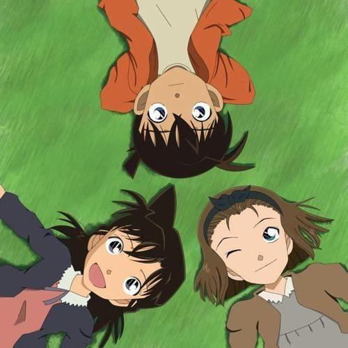 Shinichi, Ran and Sonoko - Detective Conan