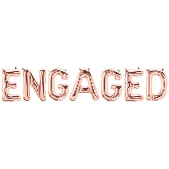 ENGAGED Balloon, Engaged Banner, Engagement Party Balloons, Engaged Photo Props, Engaged Rose Gold Letters, Engagement Photo Props, by girlygifts07 on Etsy https://www.etsy.com/listing/521518547/engaged-balloon-engaged-banner