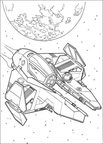 Jedi Eta 2 Starfighter Coloring Page From Revenge Of The Sith