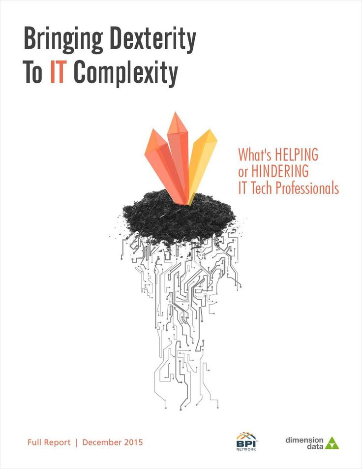 "This report represents insights from over 200 Frontline IT professionals and is brought to you FREE by Dimension Data. Download now ""Bringing Dexterity to IT Complexity: What's Helping or Hindering IT Tech Professionals"" For FREE"