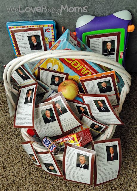 A fun idea to keep the kids happy for General Conference! welovebeingmoms.blogspot.com, #General Conference, #Kid Ideas,