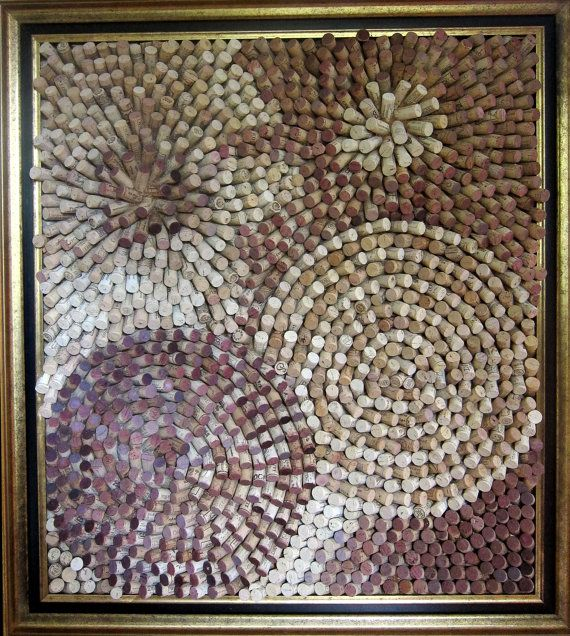 Cork fireworks. 3D cork board. One of a kind. by winecorkworks, $3599.00