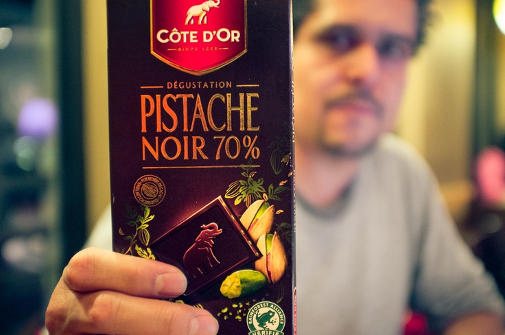 Pistache Noir, French chocolate with delicious pistachio...