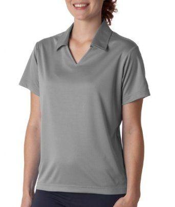 UltraClub Ladies Cool & Dry Sport Mesh Performance Polo Shirt. 8407 - Large - Grey UltraClub. $20.00