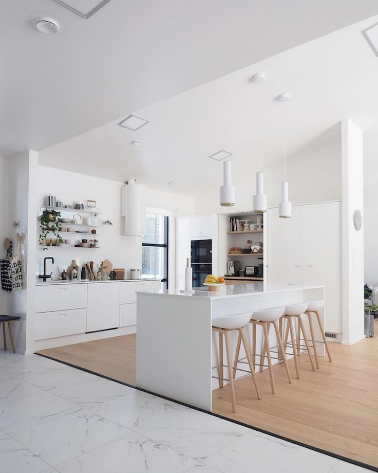My Scandinavian Home An Inspiring Finnish Home Kitchen In White And Wood Interior Design Kitchen My Scandinavian Home Home Decor