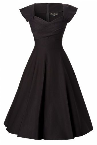 50s swing dress black. Love. This.  Lbd | http://beautifulskirts.13faqs.com