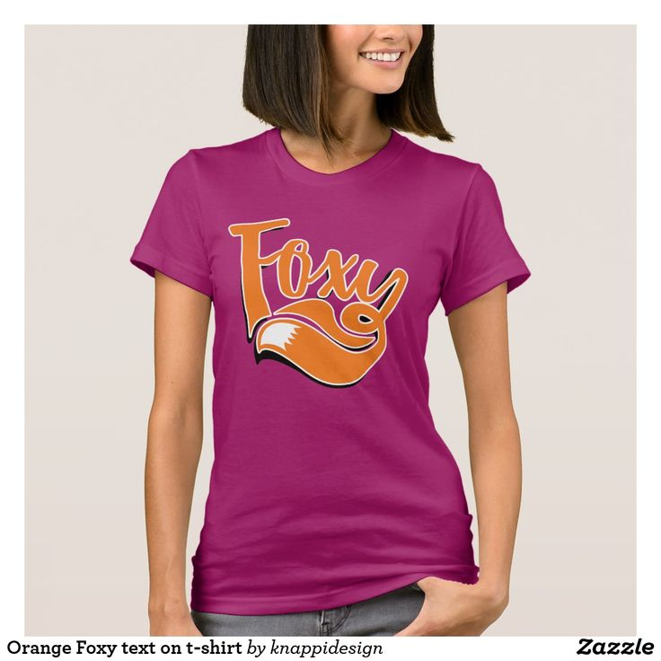 Orange Foxy text on t-shirt.  #foxy #illustration #foxygirl #foxylady #sexy #graphic #textillustration #foxtail #tail #fox #tshirt #foxshirt #foxyshirt #withshadow #popup