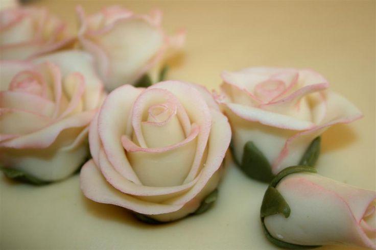 """roser med litt """"dust"""" og kronblader"""