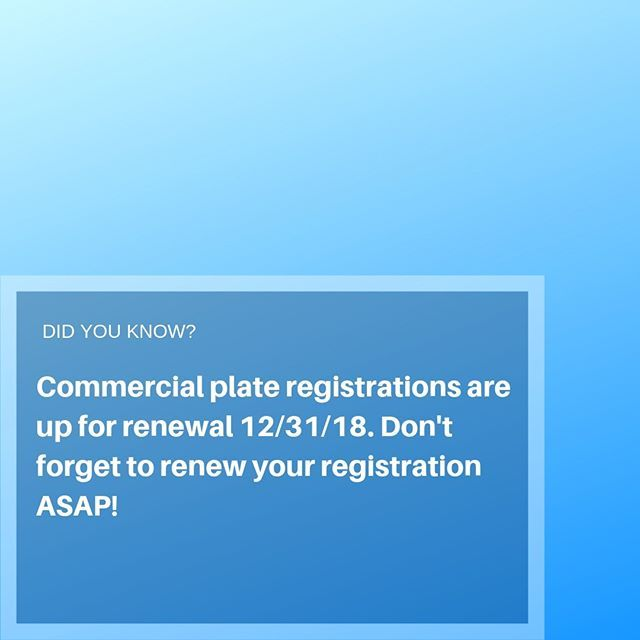 Get Your Commercial Auto Registration Renewals In Asap Need Help
