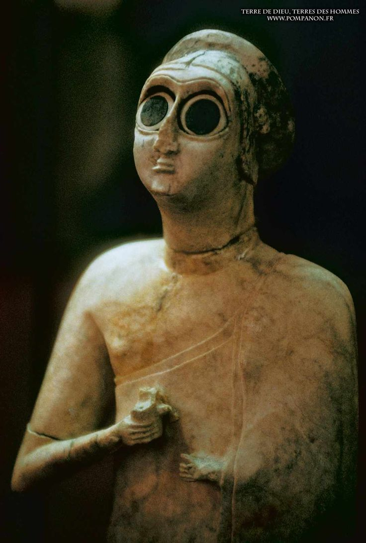 Pompanon.fr - Mésopotamie (Irak)  Orants -2600 BC Eshnunna