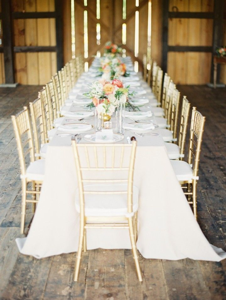 Dinner Table for a Rustic Barn Wedding
