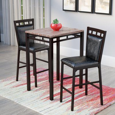 Latitude Run Eric 3 Piece Pub Table Set