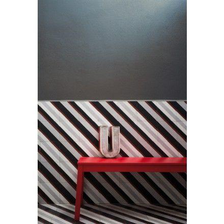 Terrazzoplatte mit verschiedenen Musterkombinationsfarben. Terrazzotypische Farben: 711052 #terrazzo #terrazzoplatte #muster #streifen #stripes #possibilities #möglichkeiten #kombinierbar #combinations viaplatten.de