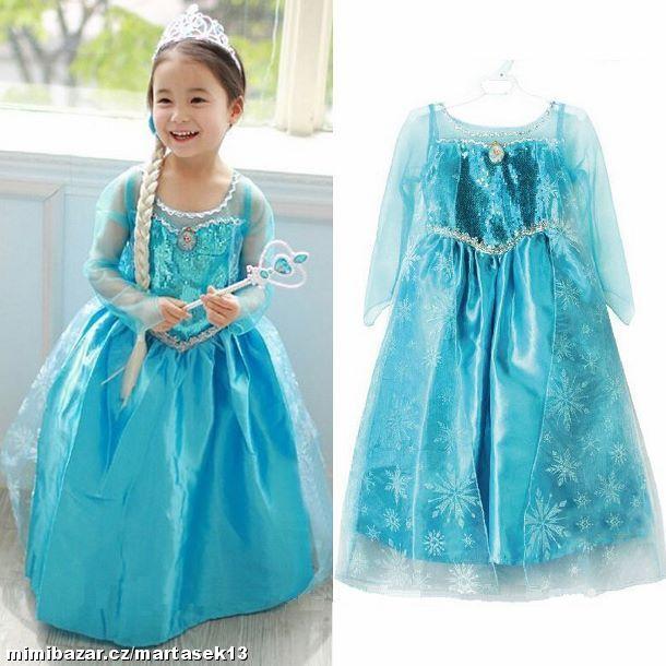 kostým Elsa Frozen Ledové Království SKLADEM dárky