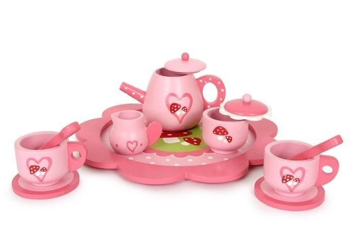 Serwis do herbaty Muchomorek | ZABAWKI \ Zabawki drewniane ZABAWKI \ Odgrywanie ról \ Akcesoria kuchenne small foot \ Odgrywanie ról i przebranie \ Sklepiki i kuchnie | Hoplik.pl wyjątkowe zabawki