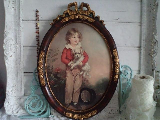 Brocante lijst met victoriaanse prent