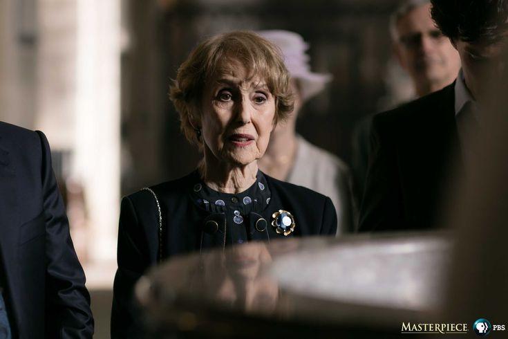 SHERLOCK (BBC) ~ S4 photo: Mrs. Hudson (Una Stubbs) and Sherlock (Benedict Cumberbatch).