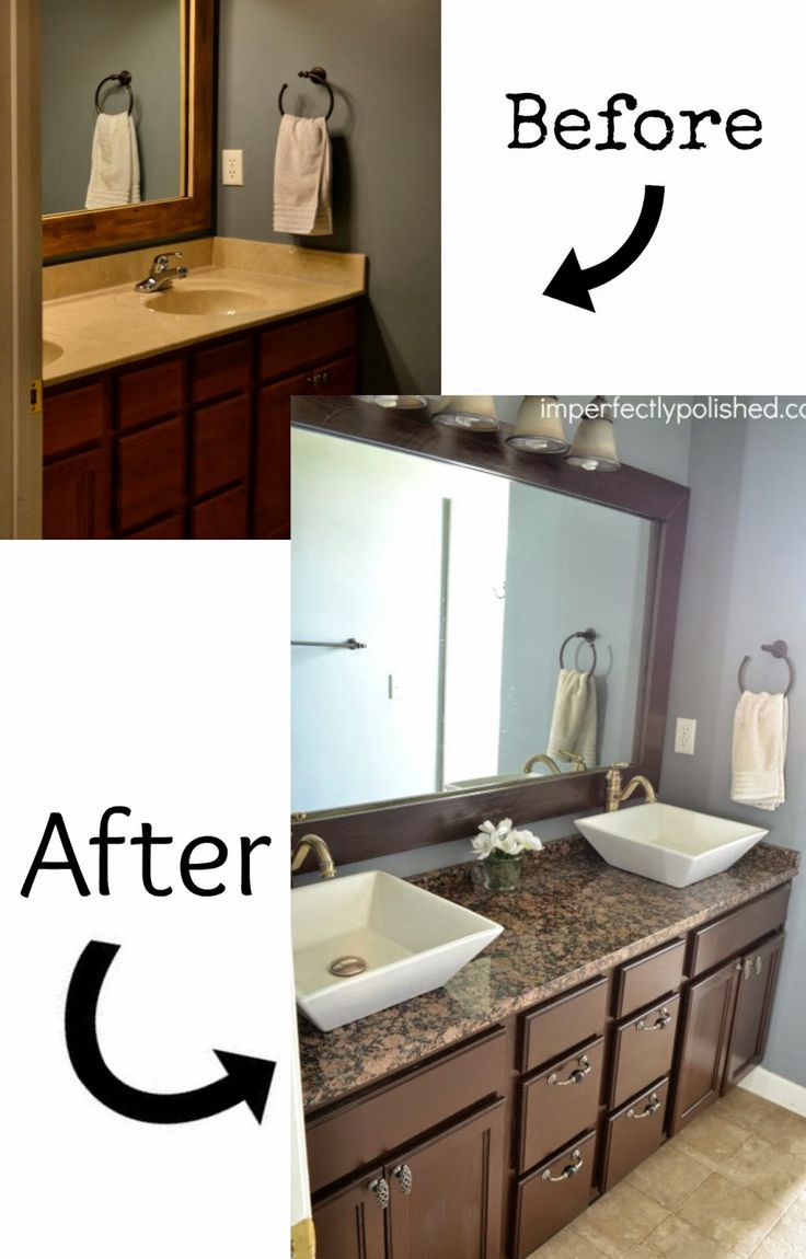 17 best ideas about bathroom vanity makeover on pinterest bathroom vanities painted bathroom. Black Bedroom Furniture Sets. Home Design Ideas