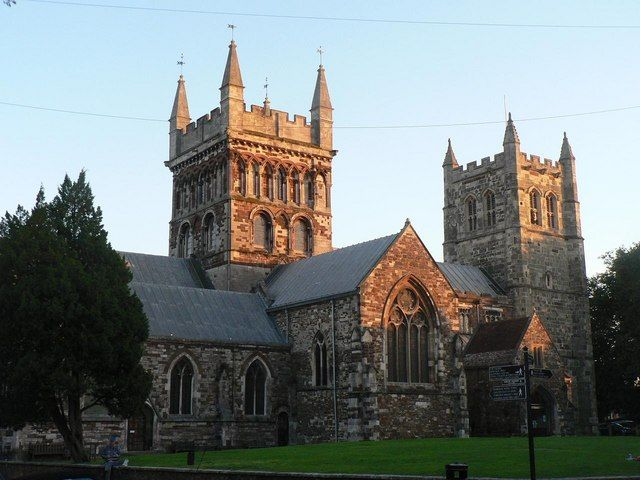 Former Abbey (and minster) of St. Cuthburga, Wimborne, Dorset.