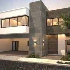 Fachada principal / Sur: Casas de estilo Moderno por Nova Arquitectura