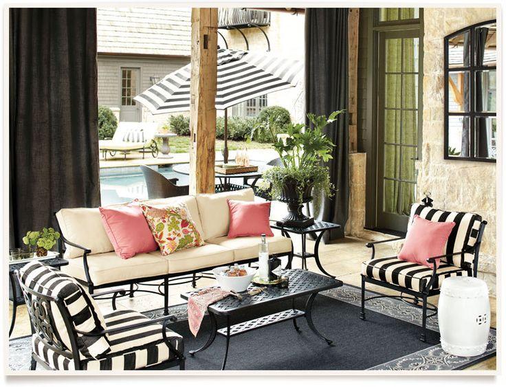 [get The Look: Amalfi Outdoor] I Ballarddesigns.com. Iron FurnitureOutdoor  FurnitureWhite Patio FurnitureBlack ...