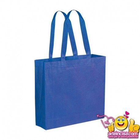 """borsa shopping in tnt """"STELLA"""" in confezione di 200 pezzi con soffietto  riutilizzabile  manici corti  materiale: tnt  area di stampa: cm 26 base  dimensione: cm 38x33,5x10 #borsepersonalizzate #shopperpersonalizzate"""