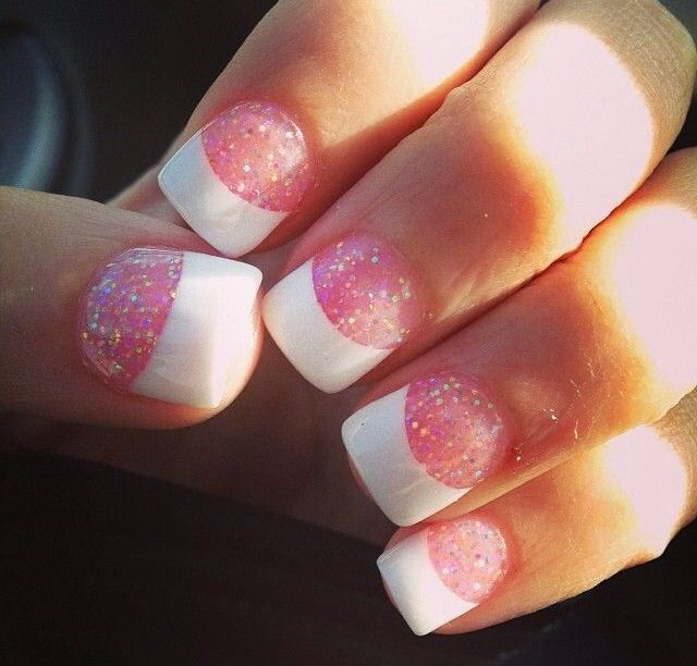 Acrylic nails · Sparkly Acrylic NailsFrench Tip ... - 805 Best Gel & Acrylic Nails & More Images On Pinterest Nail Art