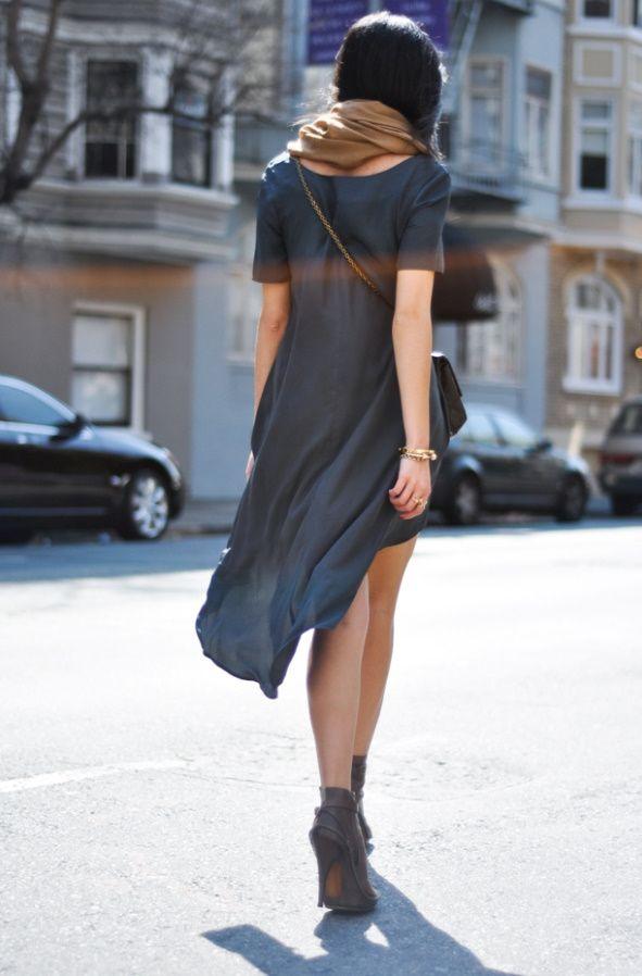 fall transitionWomen Fashion, Flowy Dresses, Blue, Clothing, Street Style, Little Black Dresses, High Low, Grey Dresses