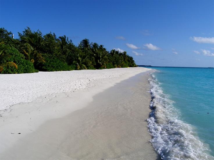 MALDIVE. Velavaru island. The beach