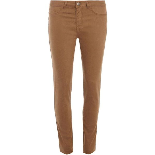 Dorothy Perkins Tall Tan 'Frankie' Jeggings Jeans ($29) ❤ liked on Polyvore featuring jeans, brown, dorothy perkins, tan jeggings, brown jeans, jeggings jeans and tan jeans