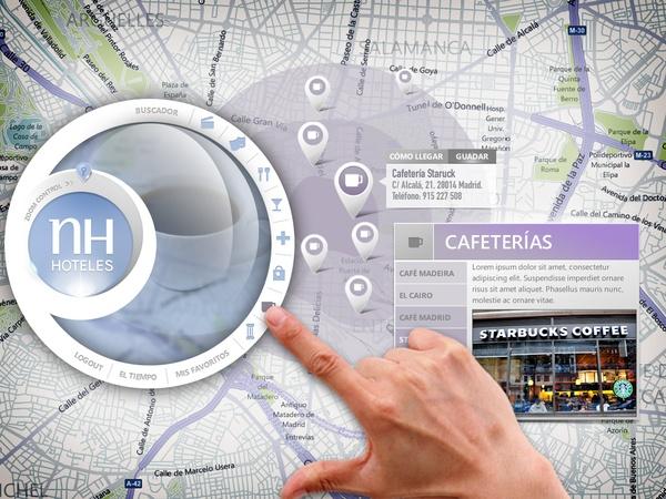 NH Hotel Touch App Concept by José Antonio García Montes via Behance.net