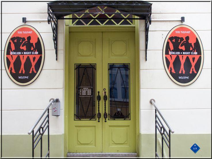 """"""" green door """" in Tallinn, Estonia By Aili Alaiso Finland"""