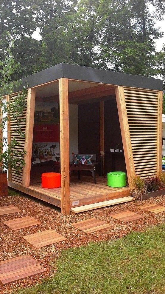 Abri de jardin KUBHOME : https://www.homify.fr/livres_idees/34600/5-terrasses-de-ville