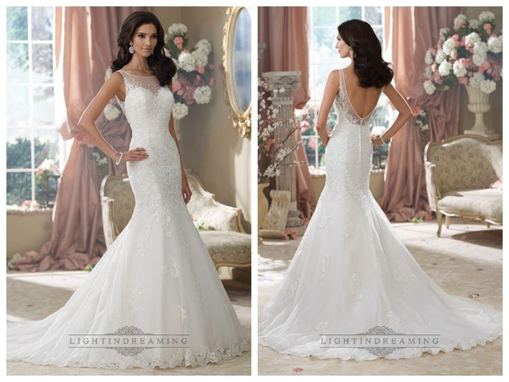 Embroidered V-back Mermaid Wedding Dresses Features Illusion Bateau   Neckline http://www.ckdress.com/embroidered-vback-mermaid-wedding-dresses-  features-illusion-bateau-neckline-p-441.html  #wedding #dresses #dress #lightindream #lightindreaming #wed #clothing   #gown #weddingdresses #dressesonline #dressonline #bride