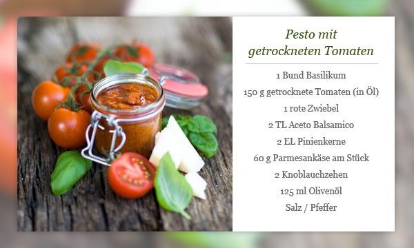 Rezept - Pesto mit getrockneten Tomaten