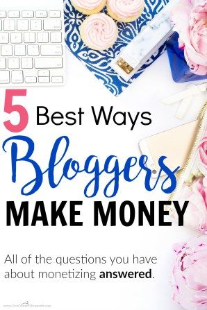 If you're looking to monetize your blog but you don't know where to start, this is a great guide! She lists the top 5 ways that bloggers earn income…