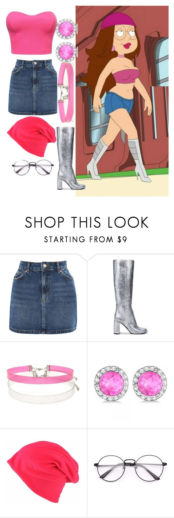 """""""sexy Meg Griffin"""" by fallenangel120401 ❤ liked on Polyvore featuring Topshop, STELLA McCARTNEY, Forever 21 and Allurez"""