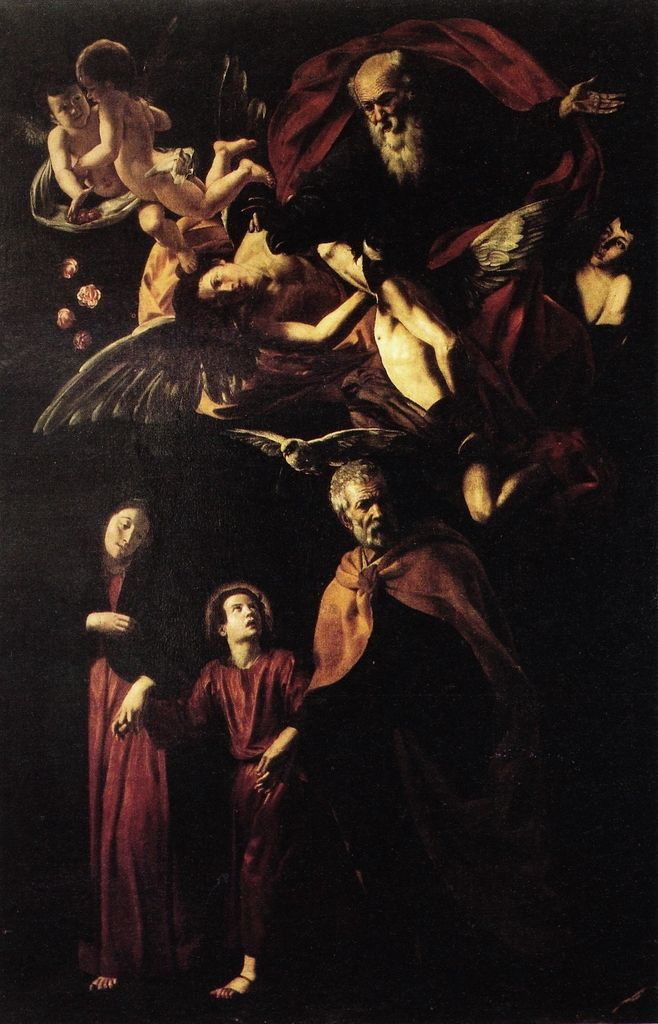 Giovanni Battista Caracciolo, il Battistello (1578 - 1635) - Earthly Trinity, 1617 #art