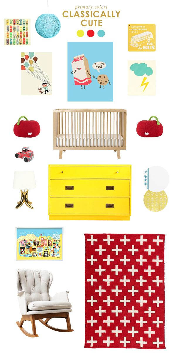 get the look: primary colors in the nursery