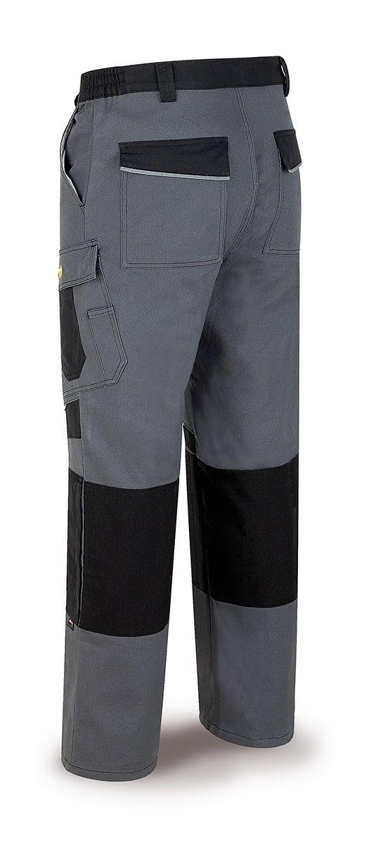 588-PNEG Vestuario Laboral Pro Series Pantalón tergal canvas 245 g. Color gris/negro.