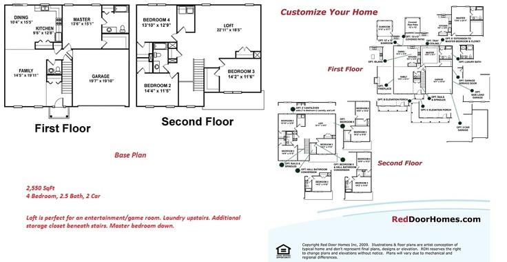 Red Door Homes Floor Plans: 8 Best Floor Plans - Two Story Images On Pinterest