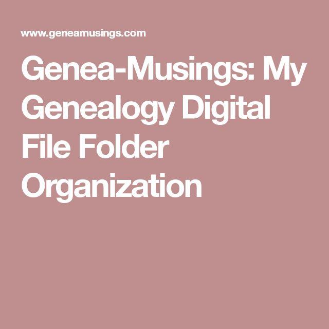 Genea-Musings: My Genealogy Digital File Folder Organization