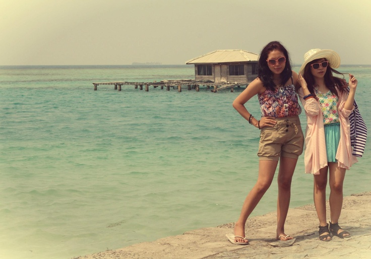 Elisabeth and Nandana in Tidung Island, Kepulauan Seribu, Indonesia (Aug '12)  #photography #vacation