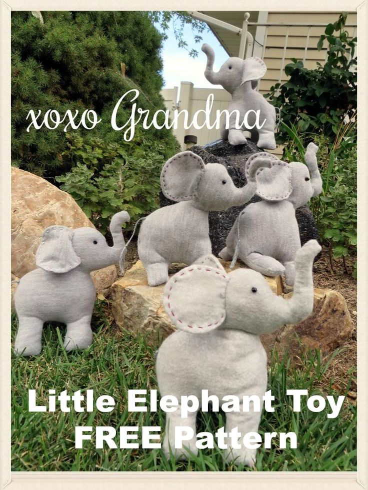 xoxo Grandma: Little Elephant Toy Pattern - FREE Pattern
