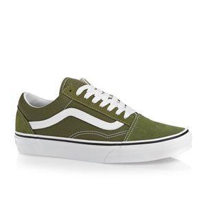Vans Skate Shoes - Vans Old Skool Shoes - Winter Moss/True White
