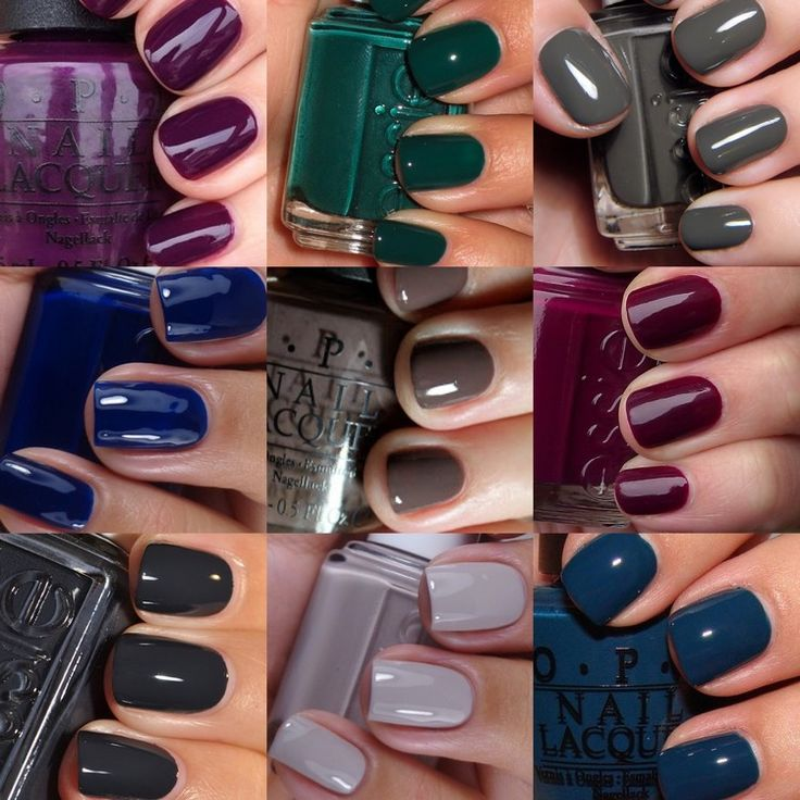 The most popular nail polish colors for autumn nails 2017/2018 – Unhas, Nägel