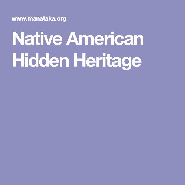 Native American Hidden Heritage